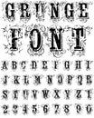 Grunge Font Royalty Free Stock Photo