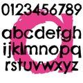 Grunge font full alphabet letter lowercase Royalty Free Stock Photo