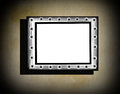 Grunge frame on beige old dirty wall with black vignette and shadow Royalty Free Stock Image