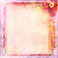 Grunge Frame For Congratulation With Flower Royalty Free Stock Image