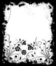 Grunge frame flower, elements for design, vector Stock Images
