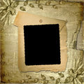Grunge frame in scrapbooking style Royalty Free Stock Photos