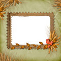 Grunge frame in scrapbooking style with bunch Royalty Free Stock Images