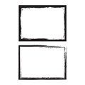 Grunge frame set. Vector template. Royalty Free Stock Photo