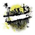 Grunge frame silhouette Royalty Free Stock Photo