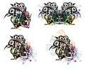 Grunge freakish bird Royalty Free Stock Photo