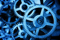 Grunge gear, cog wheels background. Industrial science, clockwork, technology. Royalty Free Stock Photo