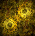 Grunge gears Stock Photos