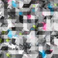 Grunge geometric seamless texture eps Royalty Free Stock Photo