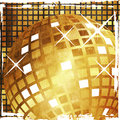 Grunge golden disco ball Royalty Free Stock Photo