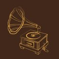 Grunge gramophone Royalty Free Stock Photo