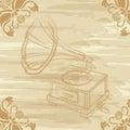 Grunge gramophone Royalty Free Stock Photo