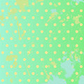 Grunge green background with polka dots the cute splashes in vintage style Stock Photo