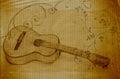Grunge guitar Royalty Free Stock Photo