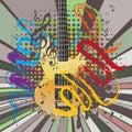 Grunge Guitar Illustration