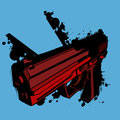 Grunge gun background a dark red with black splashes Royalty Free Stock Images