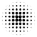 Grunge halftone vector background. Vintage dots Royalty Free Stock Photo