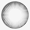 Grunge halftone vector. Dots background. Vintage texture. Royalty Free Stock Photo