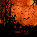 Grunge halloween background style with splats and stains Royalty Free Stock Photography