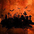 Grunge halloween background style with splats and stains Stock Photos