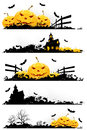 Grunge Halloween Banner Stock Images