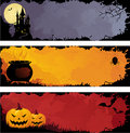 Grunge halloween banners Royalty Free Stock Images