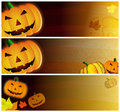 Grunge Halloween Headers Royalty Free Stock Photo