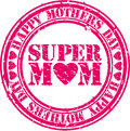 Grunge Happy mothers day rubber stamp, vector Royalty Free Stock Photo