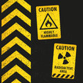 Grunge Hazard Signs Royalty Free Stock Photo