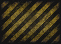 Grunge hazard stripes Royalty Free Stock Photo
