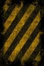 Grunge Hazard Stripes Royalty Free Stock Photo