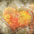 Grunge heart illustration with abstract stains Stock Images