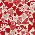 Grunge heart seamless pattern Stock Image