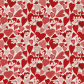 Grunge heart seamless pattern Royalty Free Stock Photos