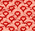 Grunge heart symmetry pattern Stock Image