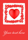 Grunge heart valentine card Royalty Free Stock Photography