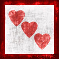 Grunge Hearts Stock Images