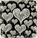 Grunge hearts background Stock Photo