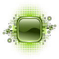 Grunge & hi-tech vector button. Stock Photography