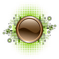 Grunge & hi-tech vector button. Royalty Free Stock Photography
