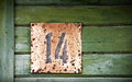 Grunge house number Stock Photos