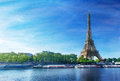 Grunge image of eiffel tower in paris Royalty Free Stock Photos