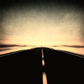 Grunge image of highway and blue sky in motion blur vintage Royalty Free Stock Images