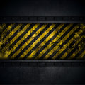 Grunge industrial background style with yellow and black stripes Royalty Free Stock Images