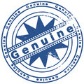 Grunge ink stamp GENUINE Royalty Free Stock Photo