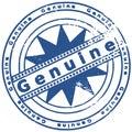 Grunge ink stamp GENUINE Royalty Free Stock Photo