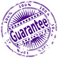 Grunge ink stamp GUARANTEE Stock Photo