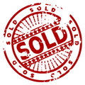 Grunge ink stamp SOLD Royalty Free Stock Photo
