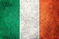 Grunge Ireland flag. Irish flag with grunge texture. Royalty Free Stock Photo