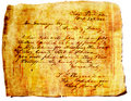 Grunge Letter on Papyrus Paper Royalty Free Stock Photo
